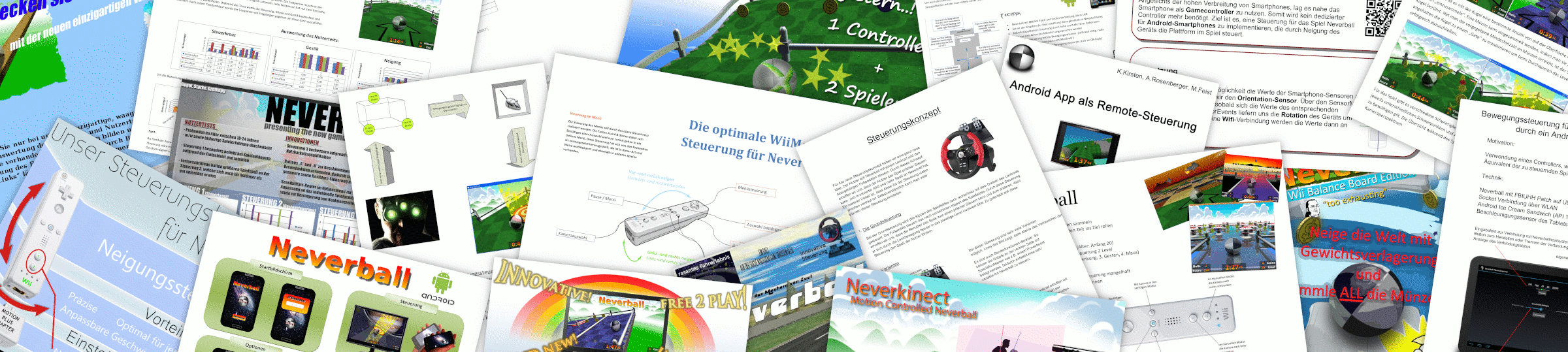 Collage of Neverball interaction posters